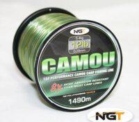 NGT Camou Fishing Line Nylon CarpFishing 0,30 mm 15LB 1300 Mt
