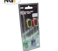 NGT 4 Pz Baiting Tools Set Accessori Innesco Carpfishing