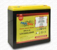 Aquaparx Batteria 12V 18Ah Scarica Lenta per Motori Elettrici 32Lb